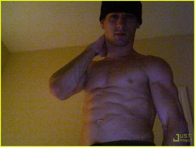 Aaron Carter, shirtless